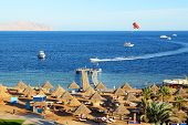 Parasailing And Beach Of Luxury Hotel, Sharm El Sheikh, Egypt