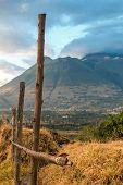 The Imbabura Volcano In The Ecuadorian Andes