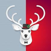 merry christmas deer background