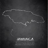 Jamaica map blackboard chalkboard vector