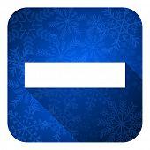 minus flat icon, christmas button
