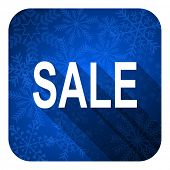 sale flat icon, christmas button