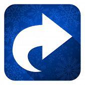 next flat icon, christmas button, arrow sign