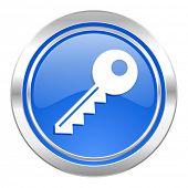 key icon, blue button