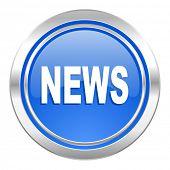 news icon, blue button