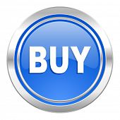 buy icon, blue button