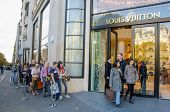 Shopping at Louis Vuitton in Paris