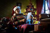 Santa Claus Reading Letters