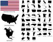 foto of texas map  - Vector Illustration of all US States - JPG