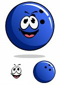 Blue bowling ball character