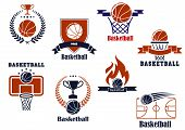 Basketball tournament and emblem designs