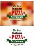 Italian pizza restaurant label