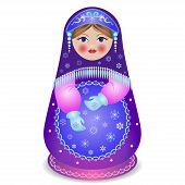 Russian Traditional Matryoshka Folk Doll