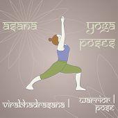 Yoga. Warrior I Pose.