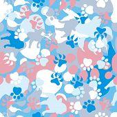 Patrón de camuflaje de perro