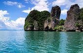 rocks and sea in Krabi