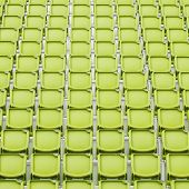 Yellow Seat In Sport Stadium