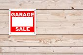 Red Garage Sale Sign