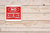 No Smoking And Spitting Sign