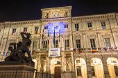 Turin City Hall by night