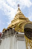 The Architecture Of Golden Buddhist Pagoda