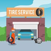Tire service poster