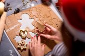 Making ginger cookies on Christmas