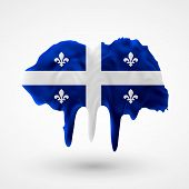 Quebec flag painted colors