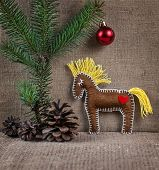 Horse Toy On Christmas