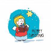 Christmas angel. Vector illustration