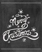 Merry christmas  chalkboard . Vector illustration.