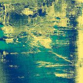 Grunge, vintage old background. With different color patterns: blue; green; yellow