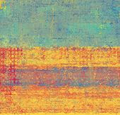 Background with grunge stains. With different color patterns: blue; orange; red; yellow