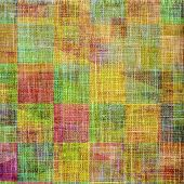 Retro background with grunge texture. With different color patterns: yellow; purple (violet); orange; green; brown