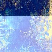 Grunge, vintage old background. With different color patterns: blue; yellow