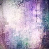 Vintage textured background. With different color patterns: purple (violet); gray; blue