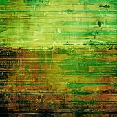 Abstract composition on textured, vintage background with grunge stains. With different color patterns: green; brown; yellow