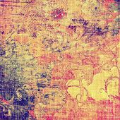 Grunge texture, Vintage background. With different color patterns: blue; purple (violet); orange; red; brown; yellow