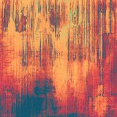 Rough vintage texture. With different color patterns: blue; orange; red; brown; yellow