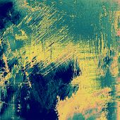 Old background with delicate abstract texture. With different color patterns: blue; green; yellow
