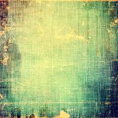 Grunge aging texture, art background. With different color patterns: blue; green; yellow