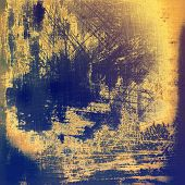 Grunge aging texture, art background. With different color patterns: gray; blue; purple (violet); brown; yellow