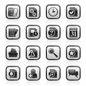 Organizer, communication and connection icons