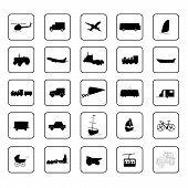 Transport Icon Black Vector