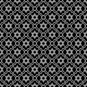 Black And White Star Of David Repeat Pattern Background