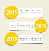 2015 calendar. Vector illustration.