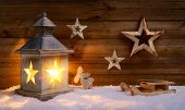 Christmas Scene In Warm Lantern Light
