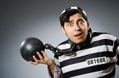 pic of inmate  - Prison inmate in funny concept - JPG