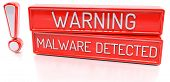 image of malware  - Warning Malware Detected  - JPG