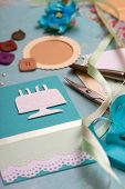 stock photo of card-making  - scrapbook background - JPG